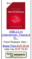 WEB 2.0 im Unternehmen: Theorie & Praxis – Ein Kursbuch für Führungskräfte v. Roebers / Leisenberg