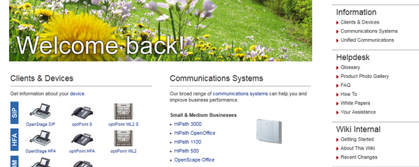 Siemens Enterprise Communications: Experten-Wiki