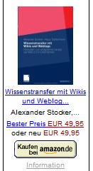 Wissenstransfer mit Wikis und Webblogs von A. Stocker / K. Tochtermann