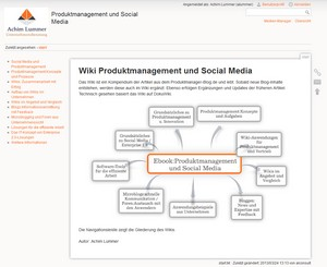 Wiki Produktmanagement und Social Media