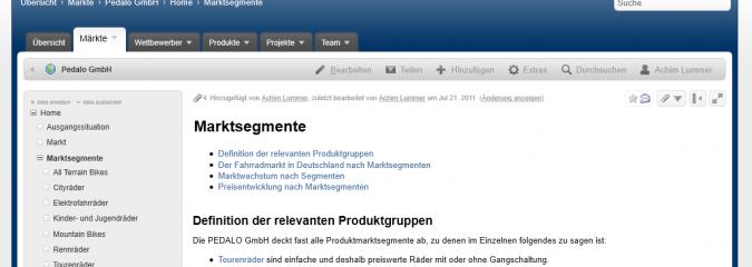 Confluence: Erweitert für Produktmanagement / Vertriebssupport