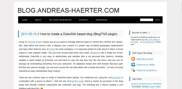 DokuWiki-Plugin-blogtng
