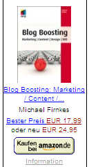 Firnkes, Michael: Blog Boosting
