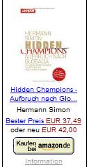 Simon, Hermann: Hidden Champions – Aufbruch nach Globalia