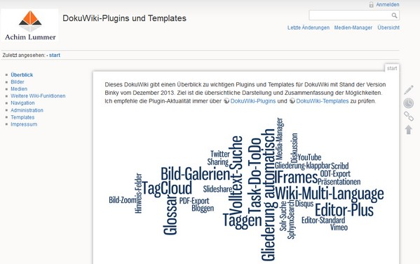 DokuWiki-Plugins und Templates