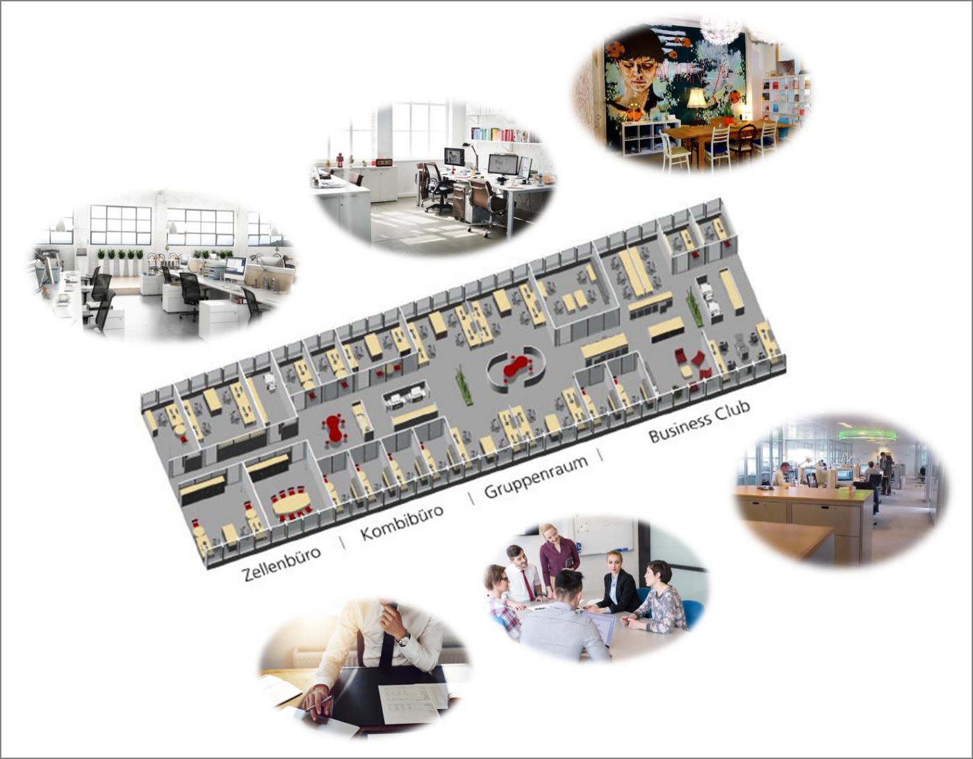 moderne burokonzepte grundriss, arbeitswelten verändern sich – kreativitätsarchitekturen, Design ideen